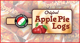 Original Apple Pie Logs logo